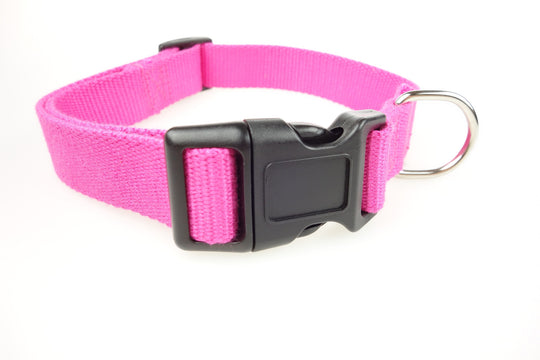 Organic Bamboo Dog Collar - Pink
