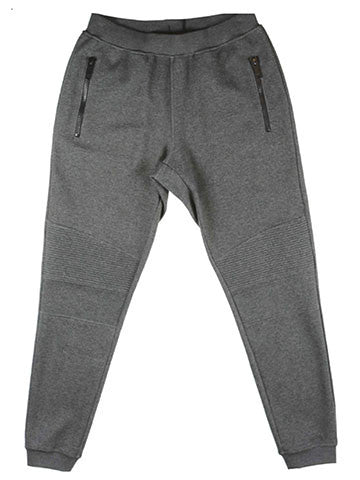 COTTON SPORT TROUSERS WITH BIKER ACCENTS