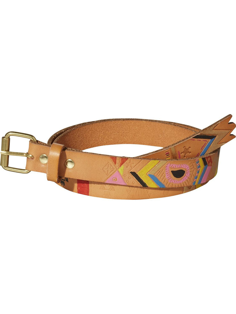 Hand-Painted Leather Belt