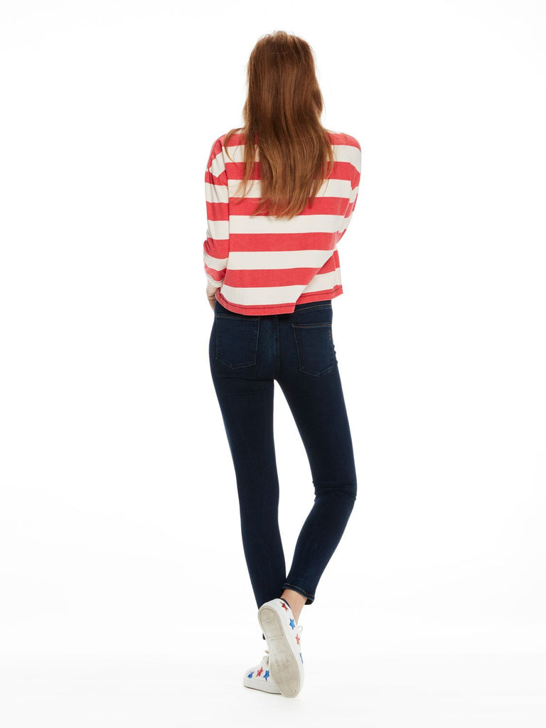 Haut - Melted Blue High Rise Skinny Fit