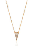 Super Tiny Long Pave Triangle Neck
