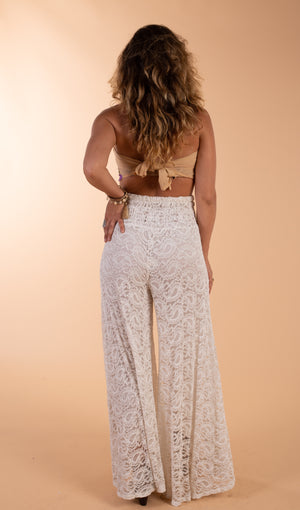 Stretch Lace Bohemian Pants
