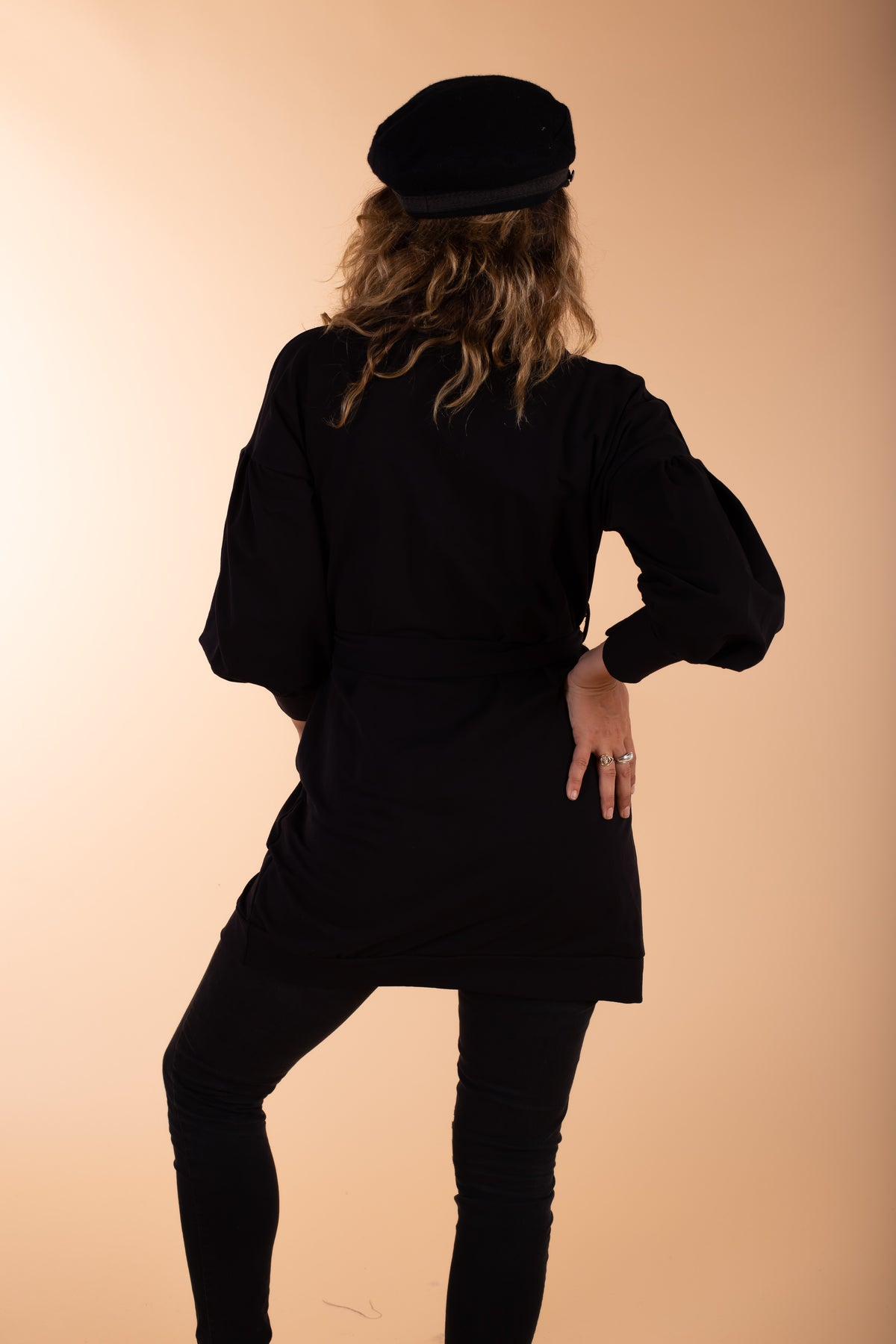 black cotton jacket back