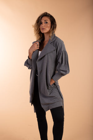grey woven cotton jacket
