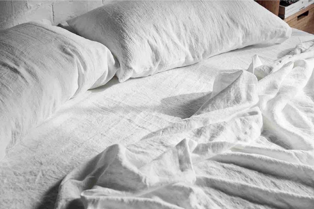 The Order Book - 100% Linen Sheets in Cloud White
