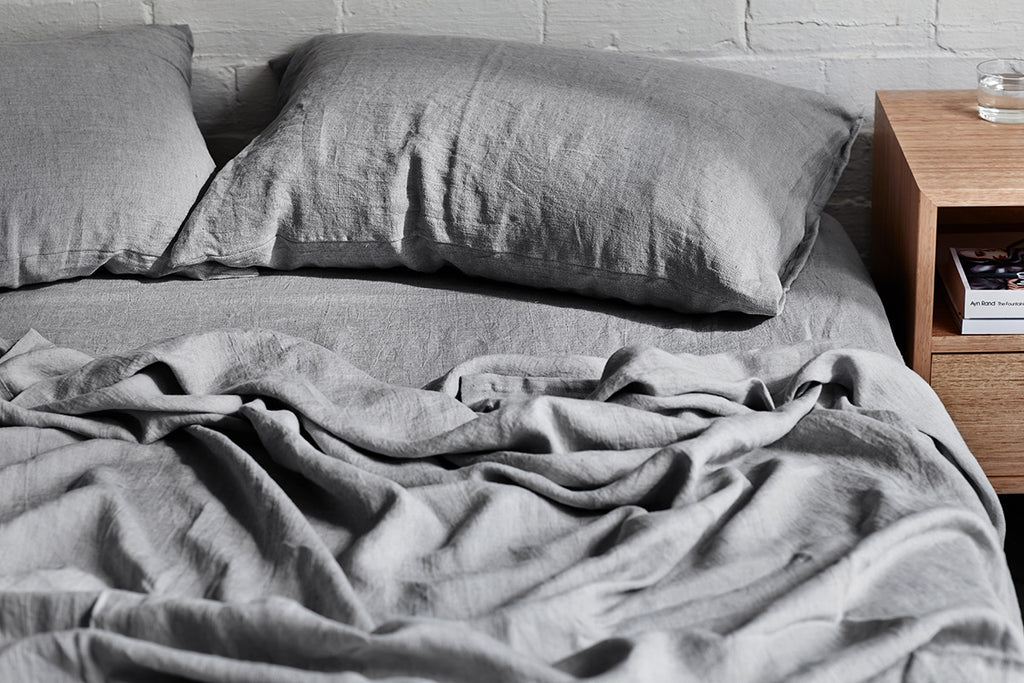 The Order Book - 100% Linen Sheets in No1 Grey