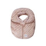 7 AM Quilted Mauve Velvet Cocoon