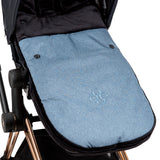 Chicali Light Blue Carseat Bunting