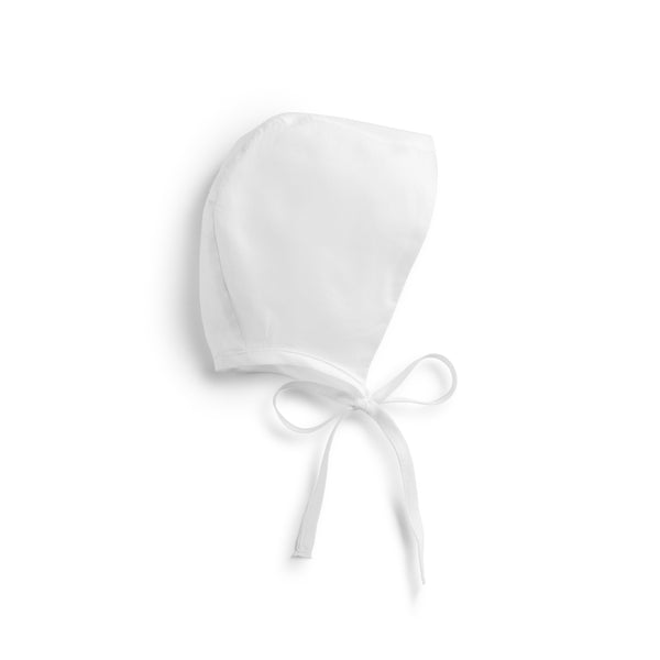 Jacqueline and Jac White Cotton Bonnet