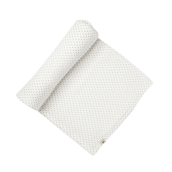 Petit Pehr Grey Dot Swaddle