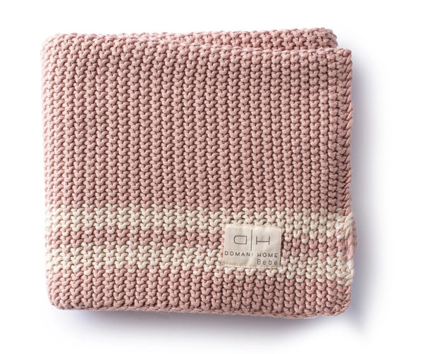 Cream Bebe Charcoal Knit Blanket