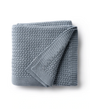 Domani Blue Herringbone Knit Blanket