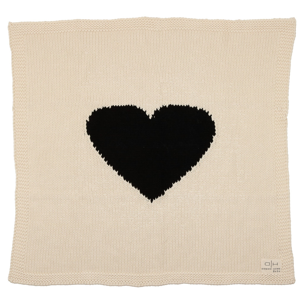 Domani Home Chunky Knit Heart Blanket