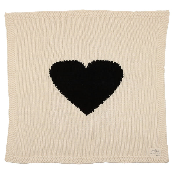 Domani Home Bebe Chunky Knit Heart Blanket