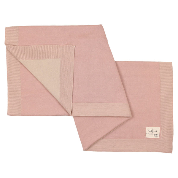 Domani Home Bebe Pink Smooth Knit Blanket
