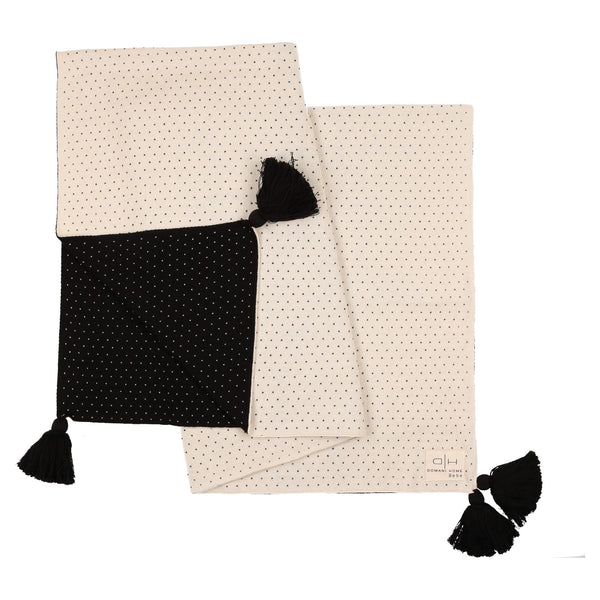 Domani Home Bebe Black/Ivory Smooth Knit Blanket