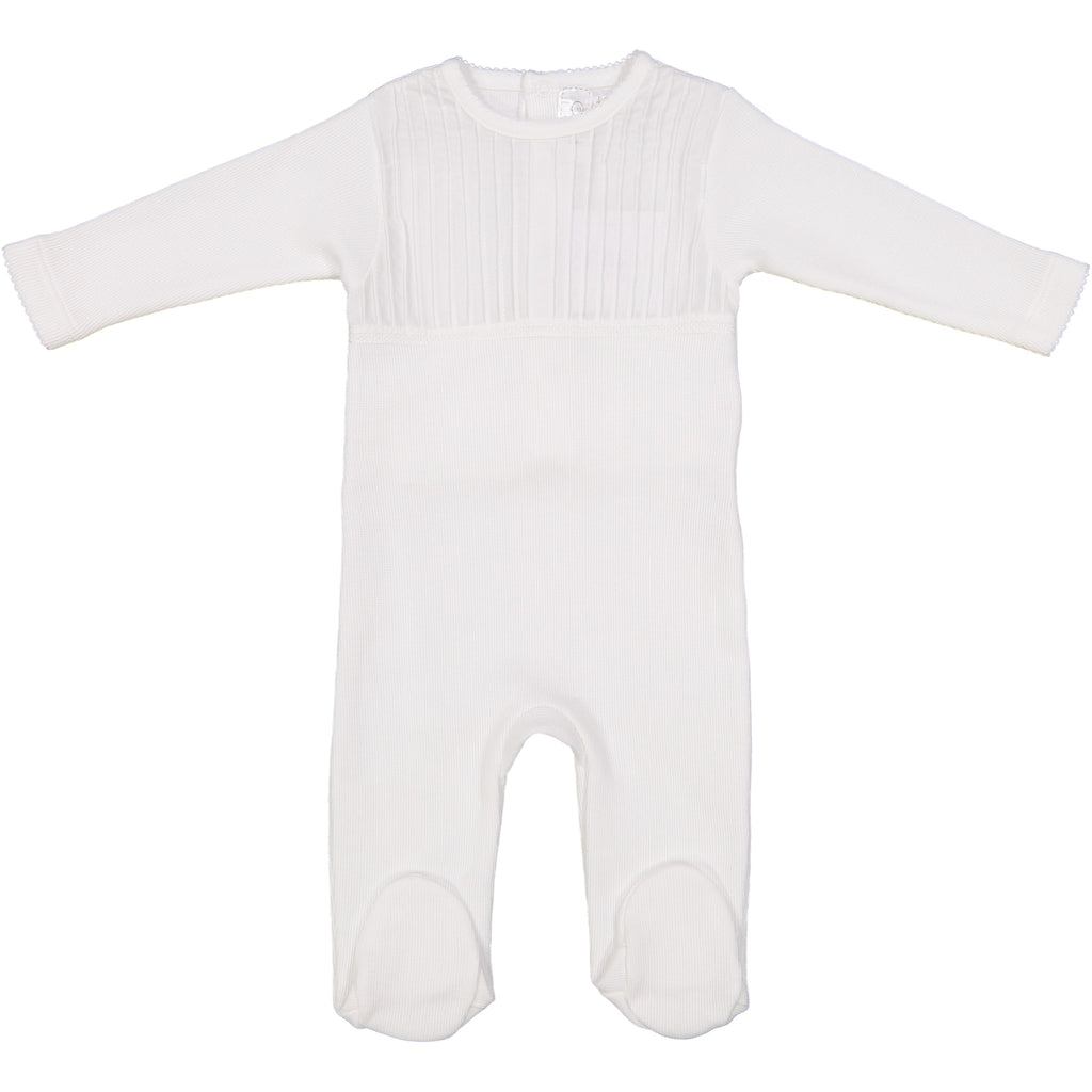 Mio Knit Pleat Front Footie