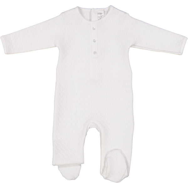 Mio White Quilted Footie