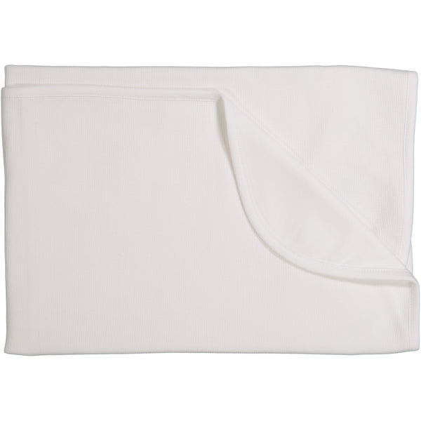 Mio White Knit Blanket