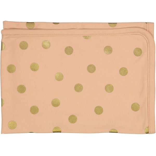 Peekaboo Pink Gold Dot Blanket