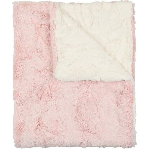 Peluche Pink Heather Fur Blanket