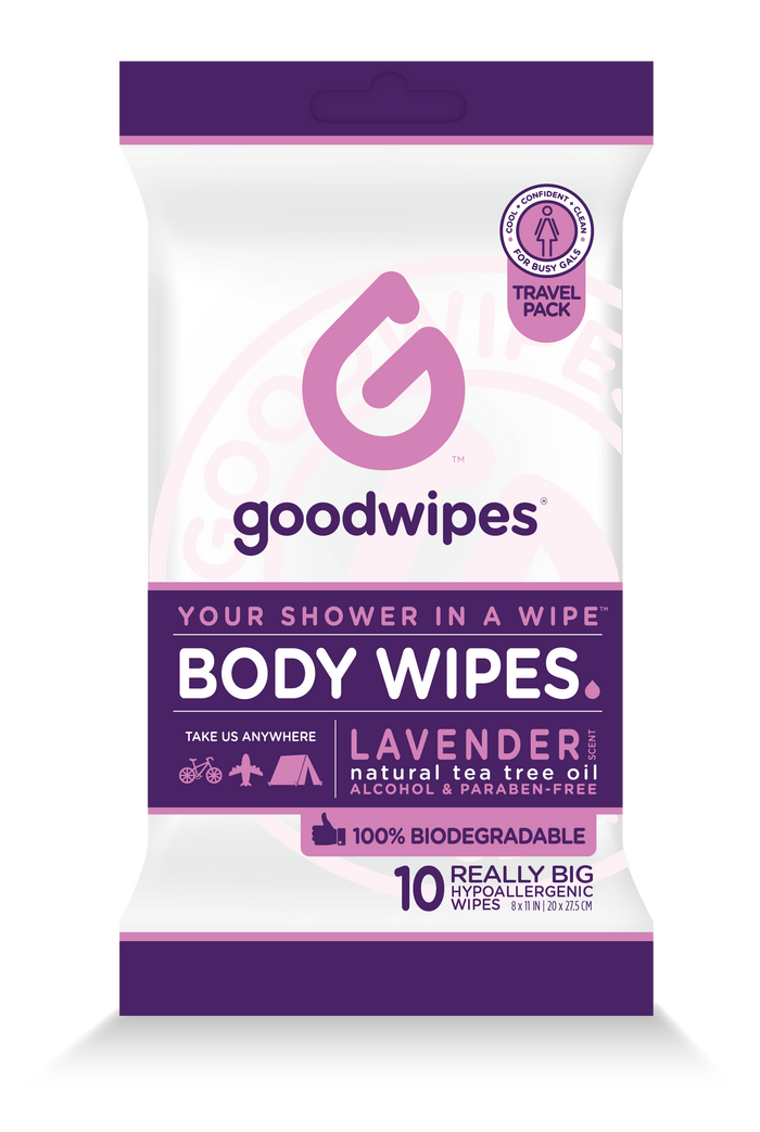 Body Wipes for Gals - Lavender - 10CT Travel Pack