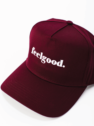 Load image into Gallery viewer, Feelgood Trucker Hat - Maroon