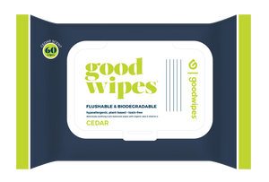 Goodwipes Flushable Wipes - Cedar - 60CT Re-Sealable Dispenser Pack