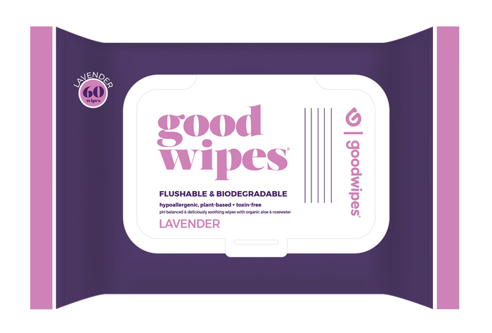 Down There Wipes for Gals - Lavender - 60CT Resealable Dispenser Pack