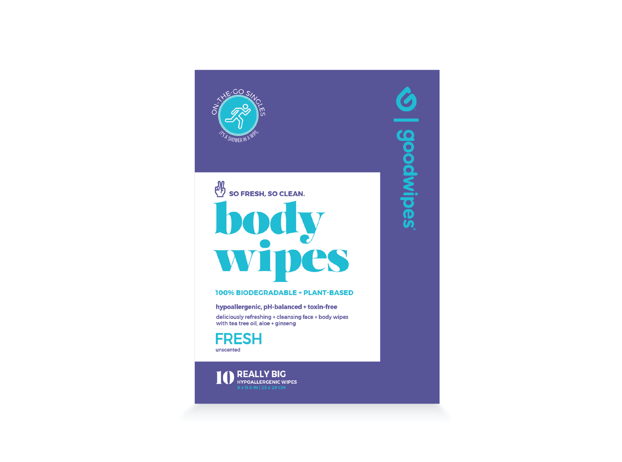 Body Wipes - Fresh - 10CT Singles