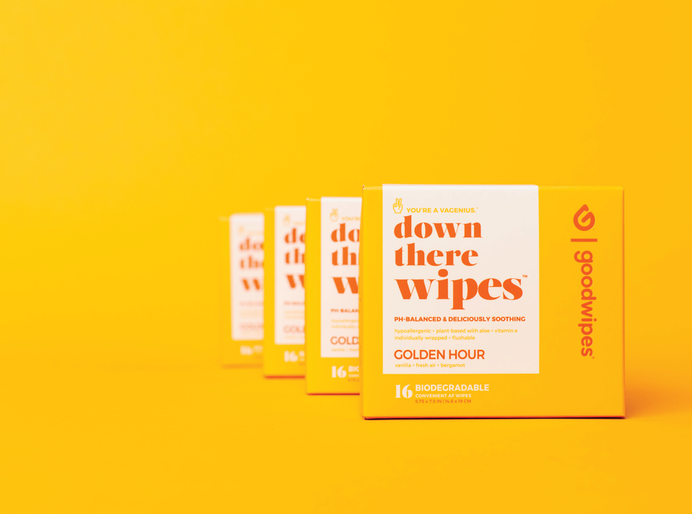 Down There Wipes - Golden Hour - 16 CT Singles - 4-Pack