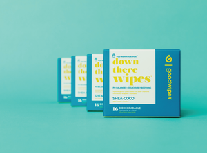 Down There Wipes - Shea-Coco - 16 CT Singles - Pack of 4