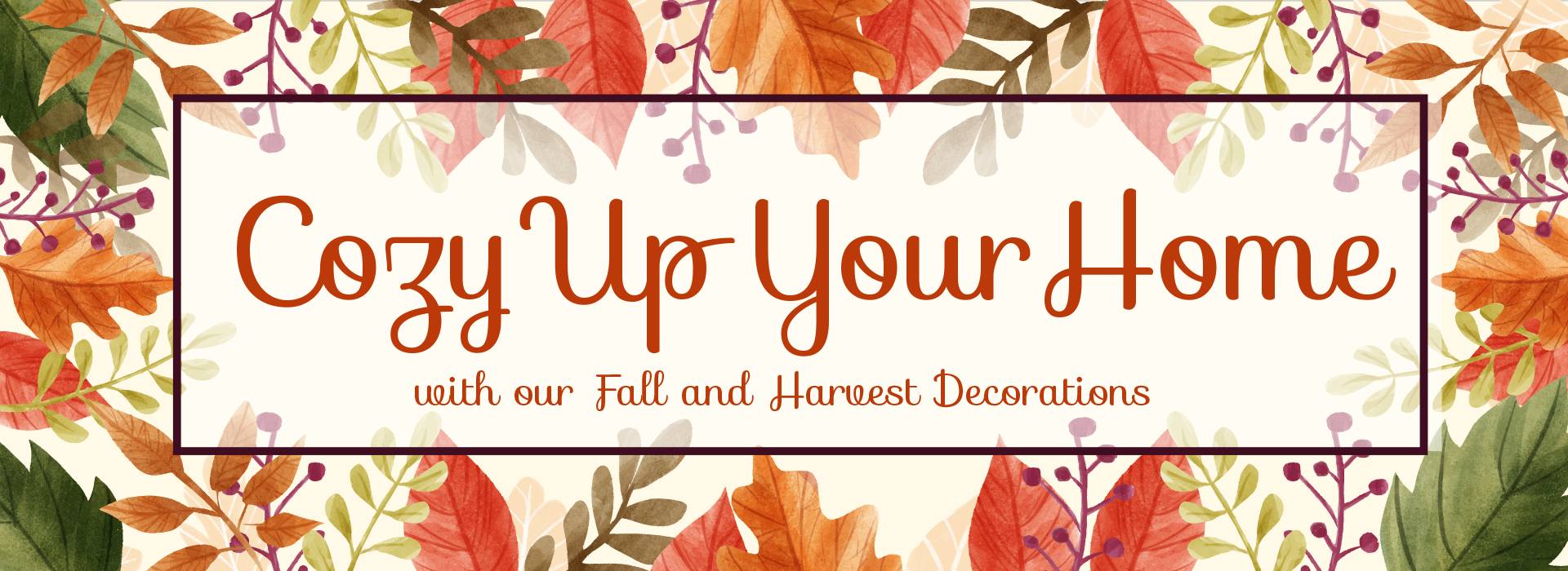 Cozy Up Your Home with our Fall and Harvest Decorations