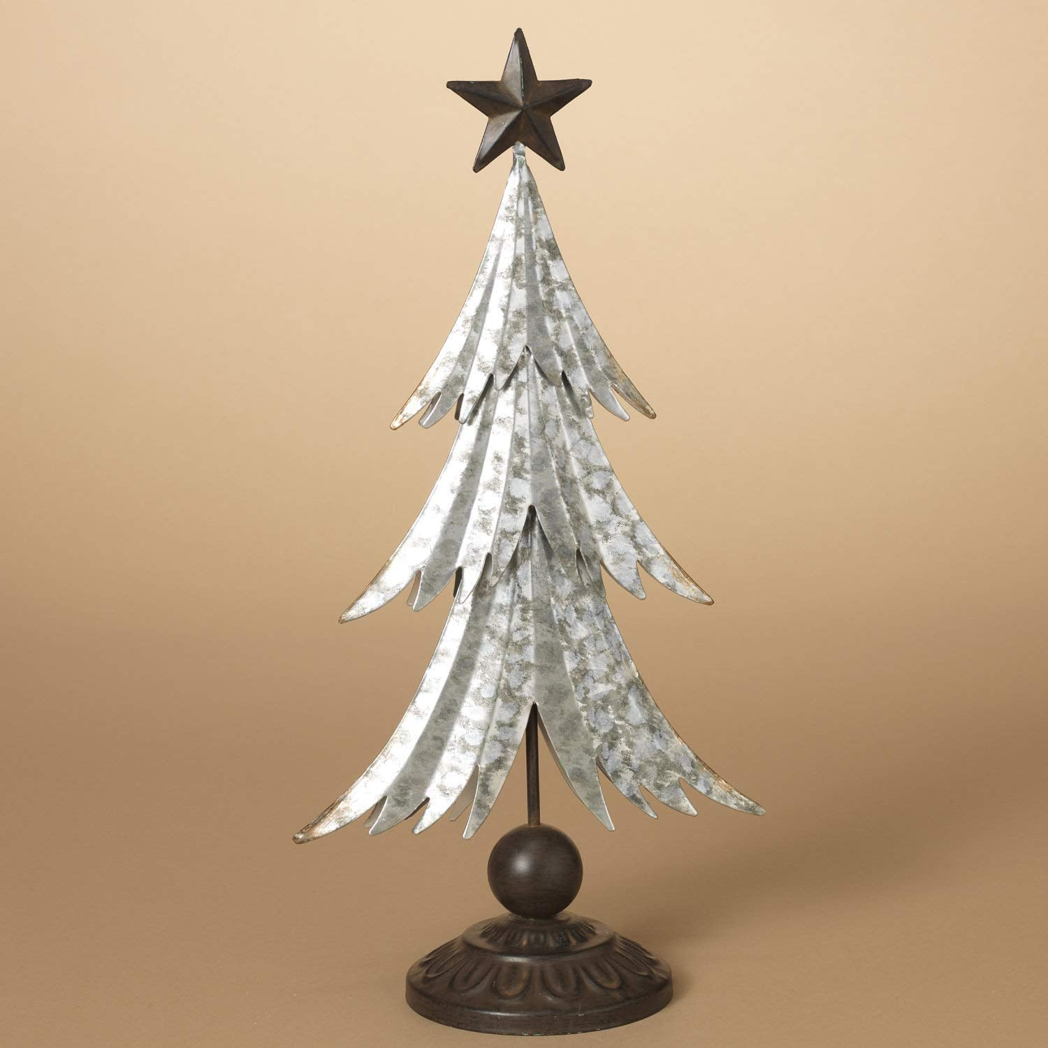 Metal Tabletop Christmas Tree: 70 Inch Galvanized Metal Snowflake Garland Holiday