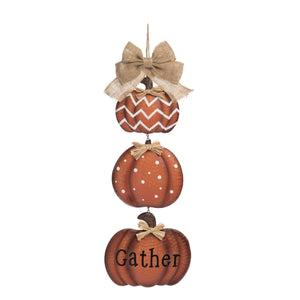 Tiered Vertical Rustic Pumpkin Welcome Sign Wall Art - Wall Hanging Fall Decoration