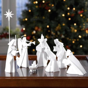 One Hundred 80 Degrees Porcelain 9 piece Nativity Set