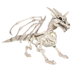Haunted Halloween Dragon Skeleton Prop – Tabletop Halloween Decoration