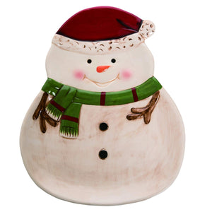 Charming Snowman Christmas Plate – Christmas Party Tableware