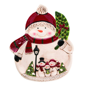 Cheerful Snowman Christmas Plate – Christmas Party Tableware