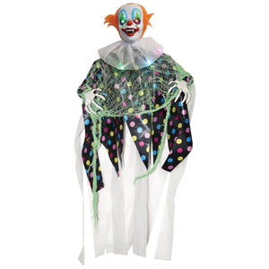 Creepy Light Up Clown Hanging Halloween Decoration Party Prop