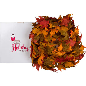 Beautiful Fall Colors Extra Full Autumn Maple Leaf Garland, 8.5 Foot