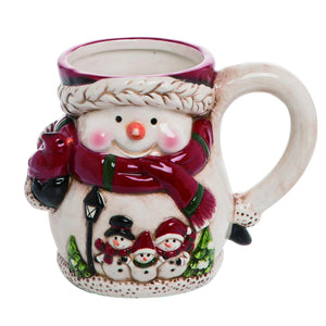 Cheerful Snowman Ceramic Christmas Mug – Holiday Tableware