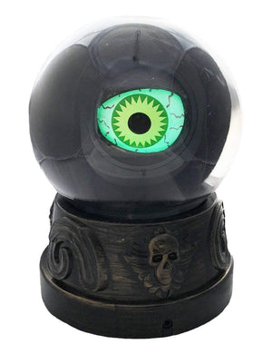 Animated Light-Up Eyeball in Crystal Ball Halloween Decoration with Sound