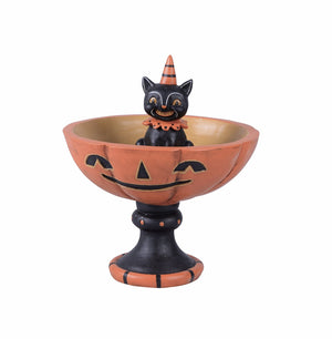 Vintage Retro Animal Halloween Candy Bowl Candy Dish On Stand Decoration