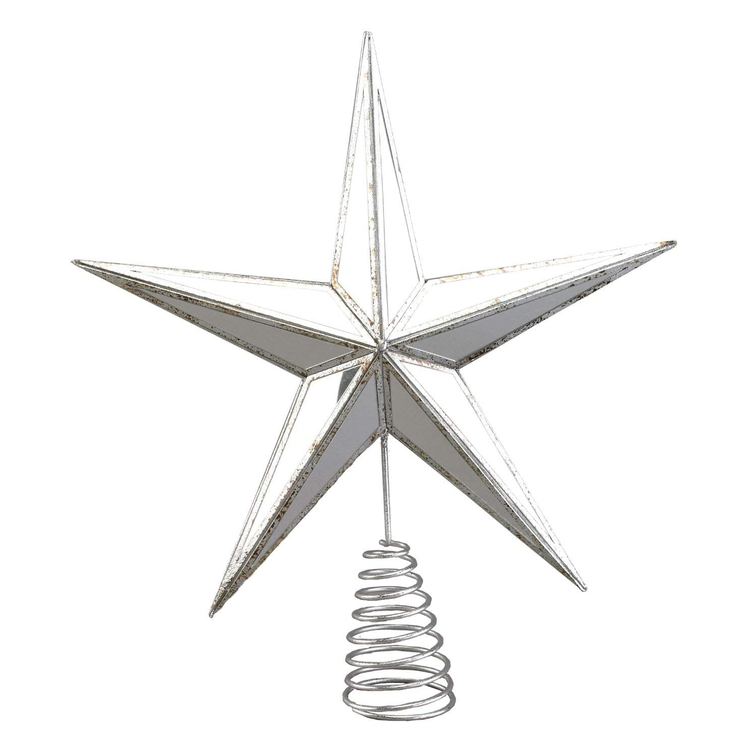 Antique Gold Or Silver Mirrored Star Christmas Tree Topper Tree Orna One Holiday Way