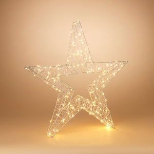33-Inch High Electric Open Wire Star Holiday Ornament with Outdoor Adapter