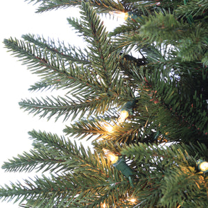 7.5Ft. Natural Cut Narrow Lincoln Pine with 300 Clear Lights