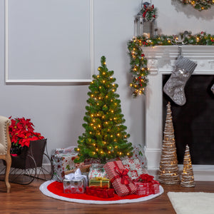 48-Inch High Southern Pine Pre-Lit Tree with Clear White Lights