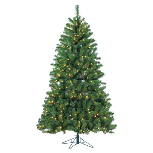 7Ft. Pre-Lit Montana Pine with 400 warm white LED lights