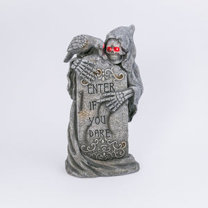29.9-Inch High Battery-Operated Magnesium Tombstone and Ghoul with Timer Feature